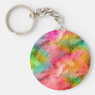 Colorful Tourmaline Glassy Texture Key Ring