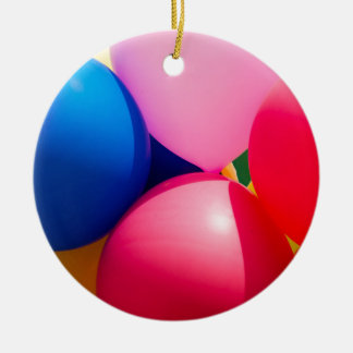 Colorful Toy Balloons Christmas Ornament