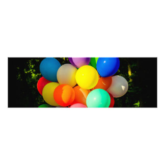 Colorful Toy Balloons Photo Print
