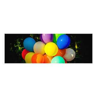 Colorful Toy Balloons Photographic Print