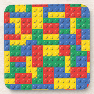 Colorful Toy Building Blocks Background Pattern Coaster