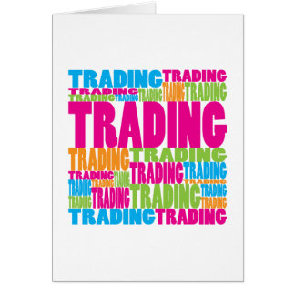 Colorful Trading Greeting Card
