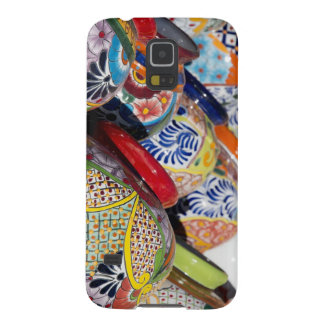 Colorful traditional hand-painted Mexican pottery Galaxy S5 Cases