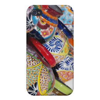 Colorful traditional hand-painted Mexican pottery iPhone 4/4S Cover