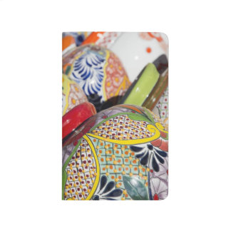 Colorful traditional hand-painted Mexican pottery Journal