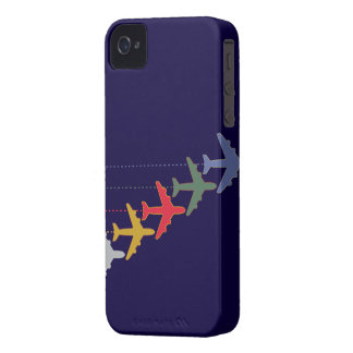 colorful travel airplanes iPhone 4 cases