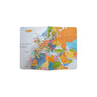 Colorful Travel Map Passport Holder