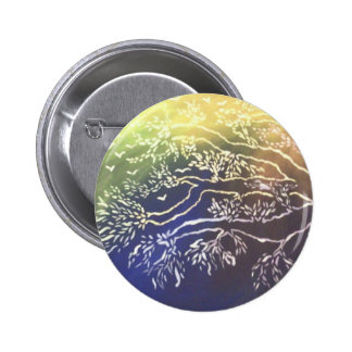Colorful Tree 6 Cm Round Badge