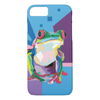 Colorful Tree Frog Portrait iPhone 8/7 Case