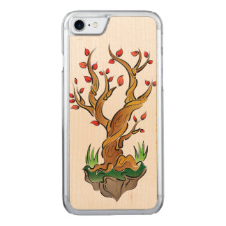 Colorful Tree Illustration Carved iPhone 8/7 Case