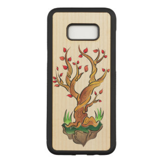 Colorful Tree Illustration Carved Samsung Galaxy S8+ Case