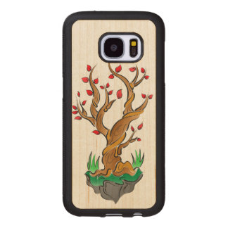 Colorful Tree Illustration Wood Samsung Galaxy S7 Case