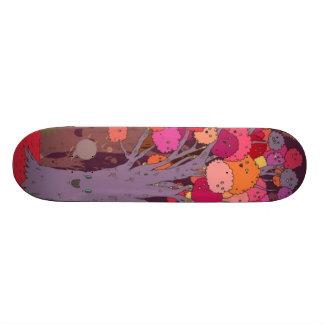 colorful tree skateboard