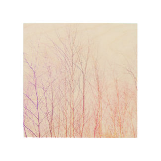 Colorful trees wood print