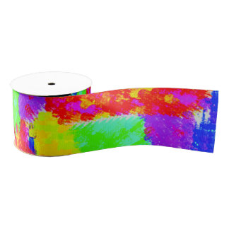 colorful trendy Abstract Grosgrain Ribbon