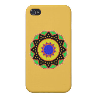 Colorful trendy abstract pattern cover for iPhone 4