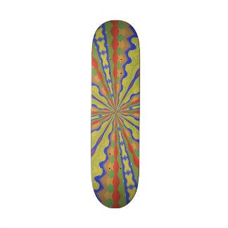 Colorful trendy pattern custom skateboard
