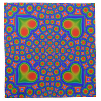 Colorful trendy pattern napkin