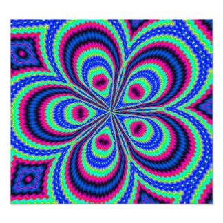 Colorful trendy pattern photographic print