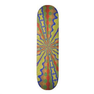Colorful trendy pattern skate boards