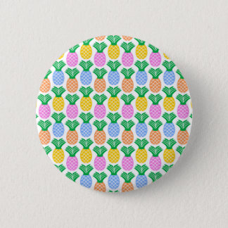 Colorful Trendy Pineapple Pattern 6 Cm Round Badge