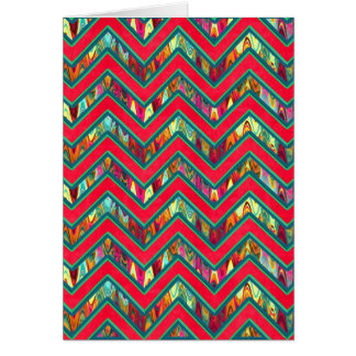 Colorful Trendy Psychedelic Zig Zag Cards