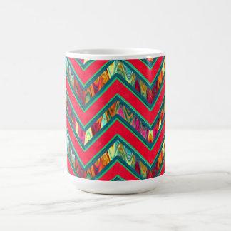 Colorful Trendy Psychedelic Zig Zag Coffee Mug