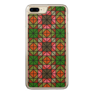 Colorful triangle mosaic pattern carved iPhone 8 plus/7 plus case