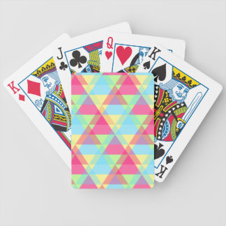 Colorful Triangle pattern Bicycle Playing Cards
