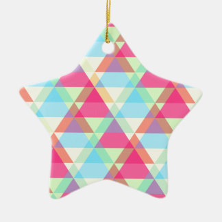 Colorful Triangle pattern Ceramic Star Decoration