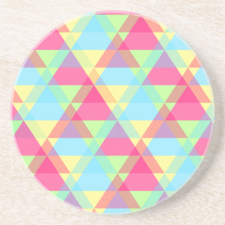 Colorful Triangle pattern Coaster