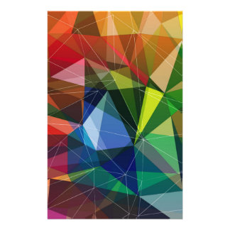 Colorful triangle pattern customized stationery