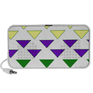 Colorful triangle pattern fun cute fresh girly hip iPhone speakers