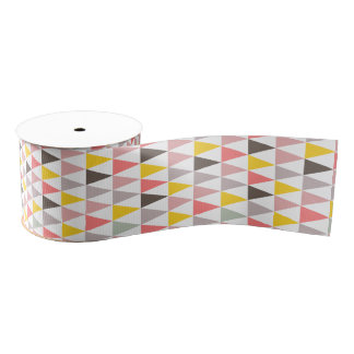 colorful triangle pattern grosgrain ribbon