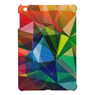 Colorful triangle pattern iPad mini covers