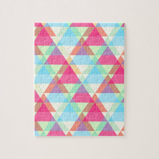 Colorful Triangle pattern Jigsaw Puzzle