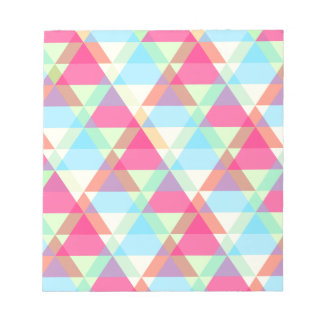 Colorful Triangle pattern Notepads