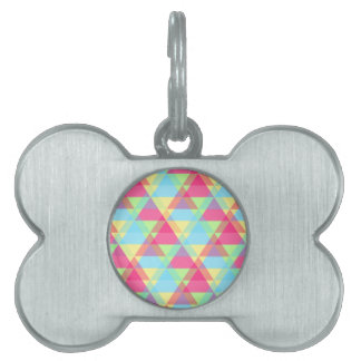 Colorful Triangle pattern Pet ID Tag