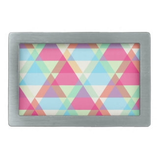 Colorful Triangle pattern Rectangular Belt Buckle