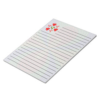 Colorful triangle tiles pattern notepad
