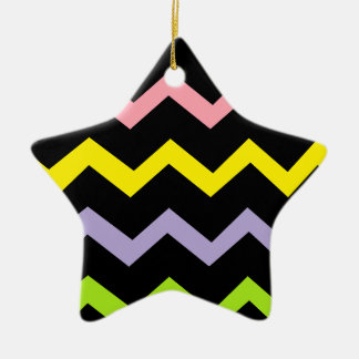 Colorful Triangle Waves Christmas Ornament