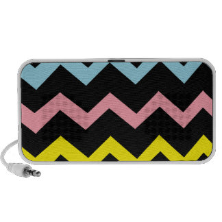 Colorful Triangle Waves Laptop Speakers