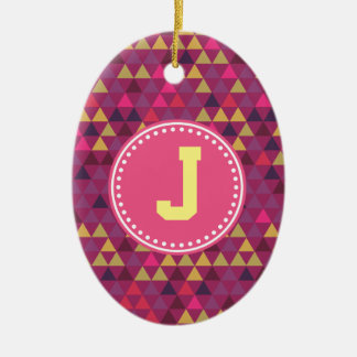 Colorful Triangles Christmas Ornament