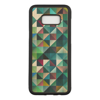 Colorful Triangles Geometric Design Carved Samsung Galaxy S8+ Case
