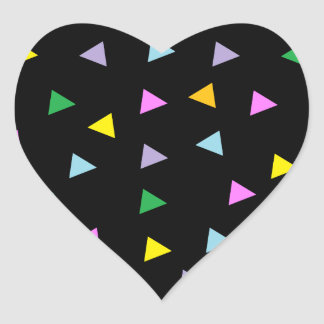Colorful Triangles Heart Sticker