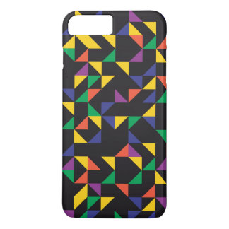 Colorful Triangles on Black Background iPhone 7 Plus Case