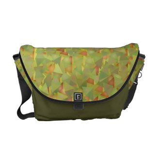 Colorful Triangles Pattern Messenger Bag