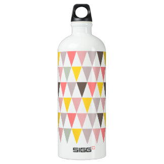 colorful triangles pattern water bottle