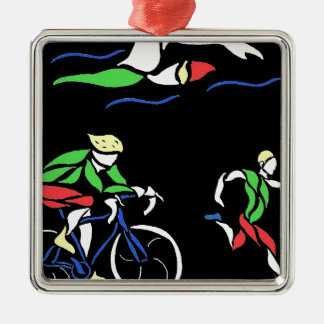 Colorful Triathlon Design Christmas Ornament