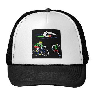 Colorful Triathlon Design Trucker Hats